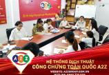 Dịch thuật công chứng tài liệu Du Lịch tại huyện An Lão - Hải Phòng